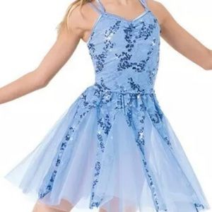 Weissman blue sequins dance costume small child